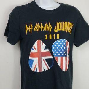 Def Leppard Journey 2018 tour tshirt black